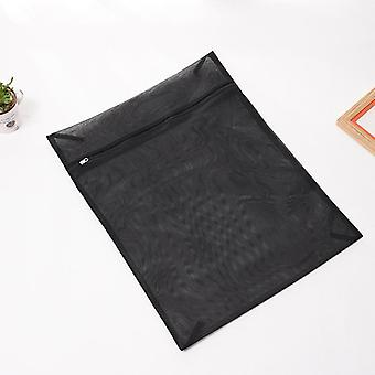 1pc Clothes Washing Machine Laundry Bag With Zipper Nylon Mesh Net Bra Washing Bag