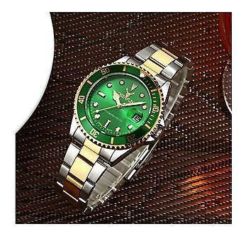Genuine Deerfun Homage Watch Green Silver Gold Date Watches Top Quality Sale