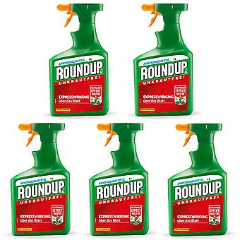 Sparset: 5 x ROUNDUP® AC, 1 litre