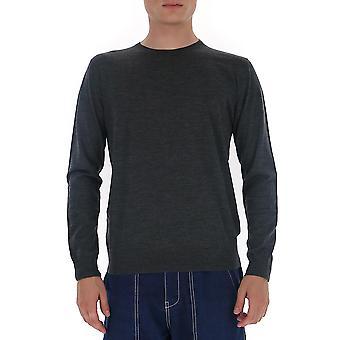 Prada Umm984c5wf0308 Männer's grau Wolle Pullover