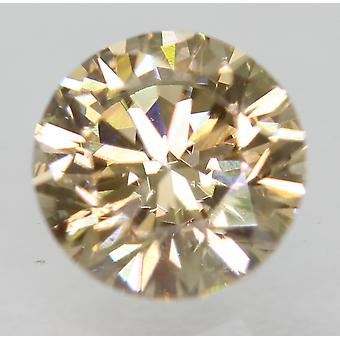 Cert 0.83 Carat Fancy Brown VVS2 Round Brilliant Natural Diamond 5.92mm EX CUT