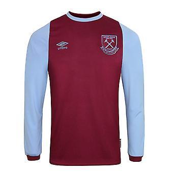 2020-2021 West Ham Long Sleeve Home Shirt (Kids)