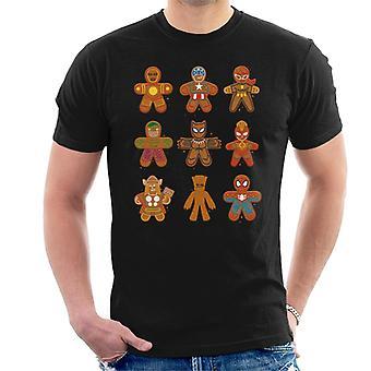 Marvel Christmas Gingerbread Avengers Men's T-Shirt