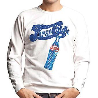 Pepsi Cola Retro funkeln Logo Herren's Sweatshirt