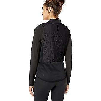 Core 10 Naiset's Standard Kevyt eristetty Run Vest, musta, Suuri