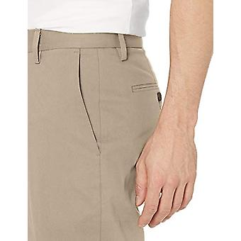Goodthreads Men's Athletic-Fit Wrinkle Free Dress Chino Pant, Khaki, 32W x 28L