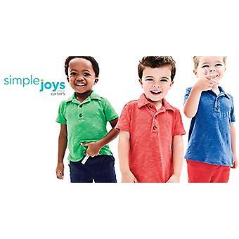 Simple Joys de Carterăs Baby Boysă Toddler 3-Pack Short Sleeve Polo, Green, B...