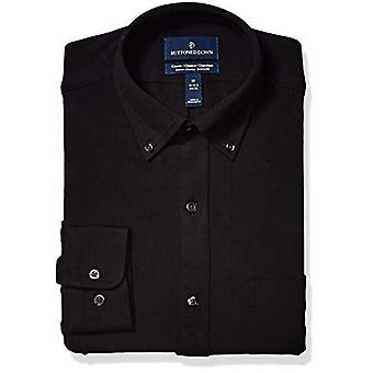 BOTONED ABAJO hombres's classic Fit Supima algodón stretch vestido camisa,...