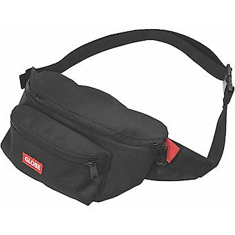 Globe Bar Waist Pack Unisex Walking Belt Bag in Black