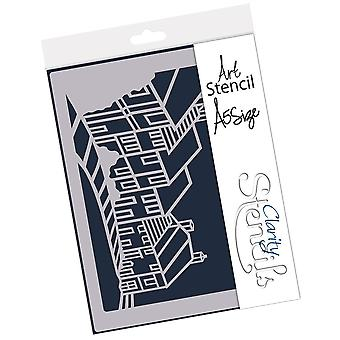 Claritystamp Gold Hill A5 Stencil