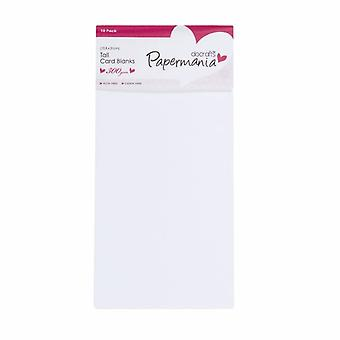 Papermania Tall Cards & Envelopes White (10pk) (PMA 150300)