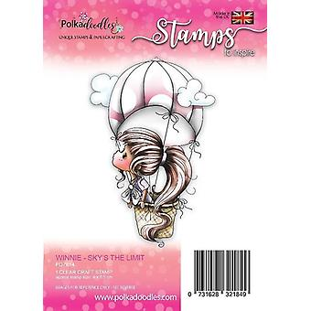 Polkadoodles Winnie Sky's the Limit Clear Stamp