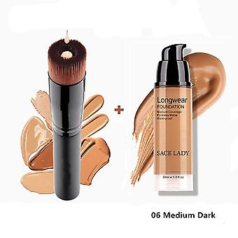 Makeup Set Foundation Liquid Matte High Coverage Concealer Cream Base Maquiagem + Makeup Brushes