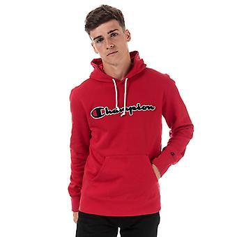 Men's Champion Large Logo Hoody en rouge