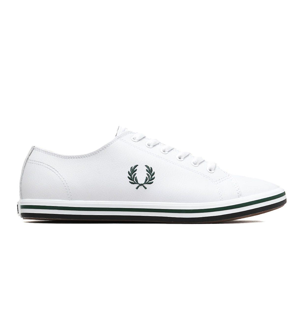 Fred Perry Kingston Leather White Plimsoll Trainer