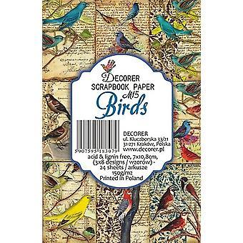 Decorer Birds Paper Pack (7x10.8cm) (M15)