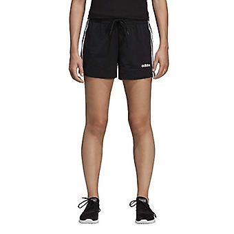 adidas Women's Essential 3-stripes Short, Black/White, Medium