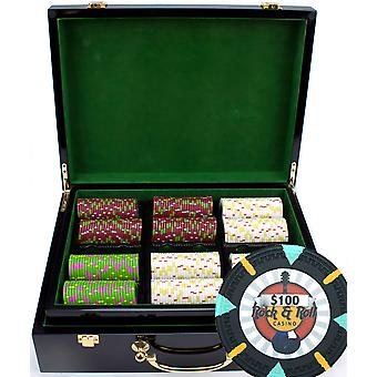 500Ct Claysmith Gaming & apos;Rock & Roll' Chip Set in Hi Gloss