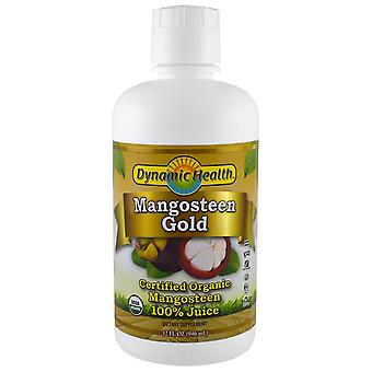 Dynamic Health  Laboratories, Certified Organic Mangosteen Gold, 100% Juice, 32