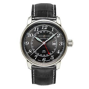 Zeppelin 7642-2 LZ127 Graf Black Dial GMT Wristwatch