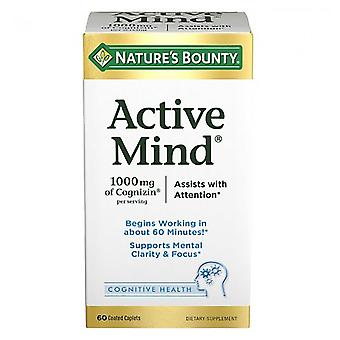 Nature's bounty active mind, 1000 mg cognizin, caplets, 60 ea *