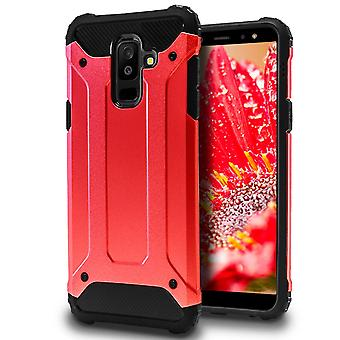 Mobile Protection for Samsung Galaxy A6+ (2018) | Hard Hybrid Shell in Red