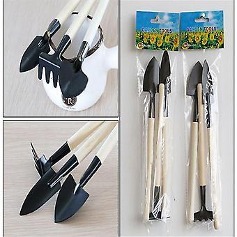 1 Set Mini Small Shovel Rake - Spade Wood Handle, Metal Head Kids Speelgoed