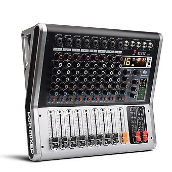 EA80 8 Channel Mixing Console with Mute and PFL Switch Bluetooth Record 3 BAND EQ 16 DSP USB Audio Mixer