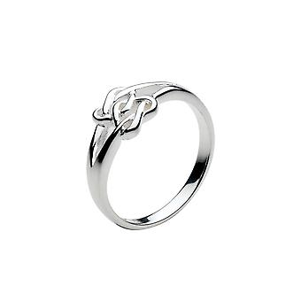 Heritage Sterling Silver Eilis Lovers Hearts Ring  22L0HP
