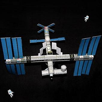 3d Paper Model Of International Space Station, Diy-puzzle Handicraft-course