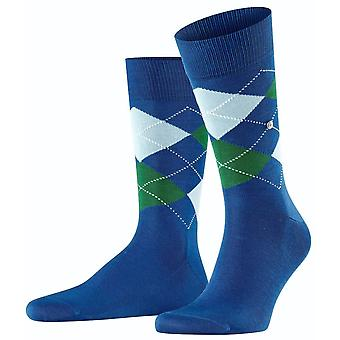 Chaussettes Burlington Manchester - Steel Blue/Green