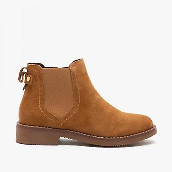 Hush Puppies Maddy Ladies Suede Ankle Boot Tan