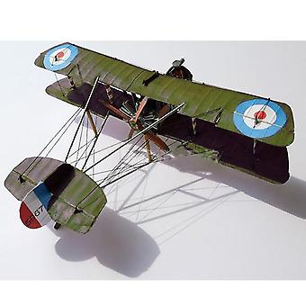 1:33 uk airco, dh.2 vinge fighter- diy 3d papirkort modell byggesett
