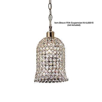Inspirert Diyas - Kudo - Bell Non-Electric SHADE BARE fransk gull, krystall