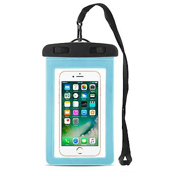 Waterproof Phone Dry Bag for Universal 6 Inch Light Portable | Sea Pvc Blue