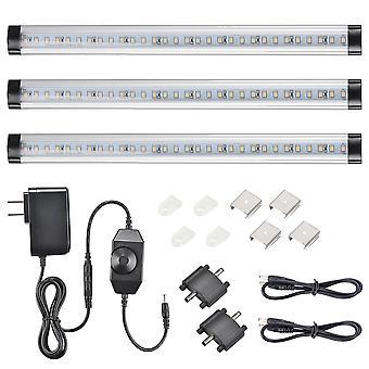 Yescom 3 Pcs 90 LEDs Under Cabinet Lighting Kit Plug in 3000K 1440lm Kitchen Under Counter Shelf Lights 11 Inches Warm White