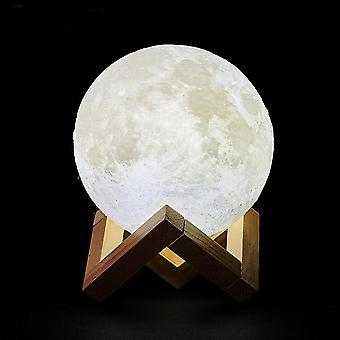 3d Print Rechargeable Moon Lamp Led Night Light Creative Touch Switch Light