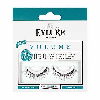 Eylure Volume Voorgelijmd Herbruikbare zwarte valse wimpers - 070 - Eenvoudig aan te brengen