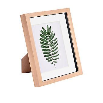 Nicola Spring 8 x 10 3D Shadow Box Photo Frame - Craft Display Picture Frame - Glazen Diafragma - Licht hout