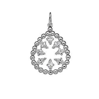 Emozioni Stainless Steel Silver Plated Devotion Layer Pendant EP028