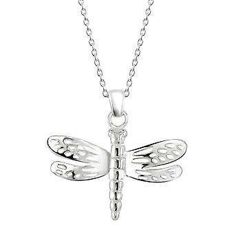 Dagg Sterling Silver Dragonfly rörliga vingar hänge 98081HP028