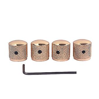 4PCS Screw Gold Metal Guitar Dome Knobs for Guitar Accessories