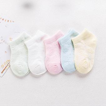 Confortável meias macias de algodão de malha respirável para crianças bebê