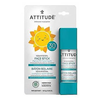 Asenne Perhe Face Stick Aurinkovoide SPF30 100% Mineraalituoksuton, 0,65 Oz