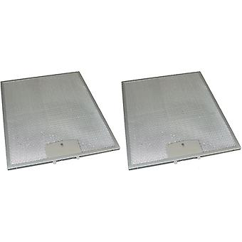 2 x Universal Cooker Hood Metal Grease Filter 250mm x 311mm