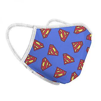 Superman szimbólumok egész nyomtatási arcmaszk