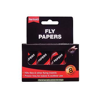 Rentokil Flypapers (Pack of 8) RKLFF89