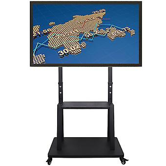 Heavy Duty Floor Tv Cart Stand Exhibition Trolley For 32''-100''