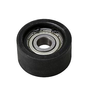 Ball Bearing Pulley Wheels Roller 6200Z Shielded Groove 10x40x20mm Black