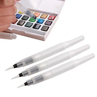 Crayon de couleur de stylos rechargeables de taille différente, brosse à peinture à l'aquarelle